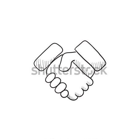 Handshake sketch icon. Stock photo © RAStudio