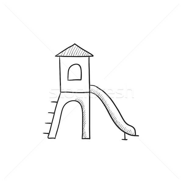 Playground with slide sketch icon. Stock photo © RAStudio
