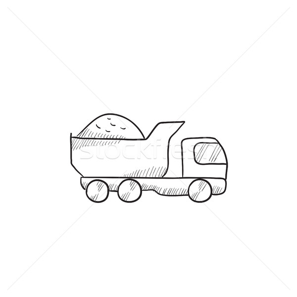 Dump truck sketch icon. Stock photo © RAStudio