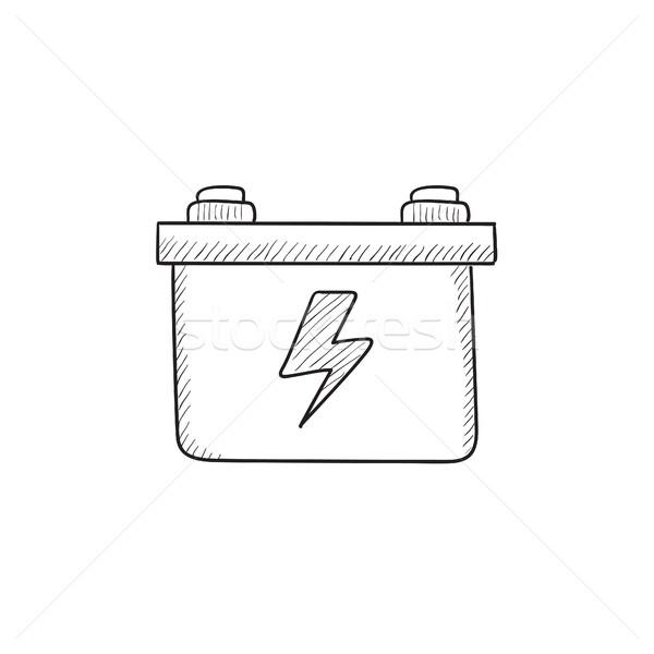 Car battery sketch icon. vector illustration © Andrei Krauchuk ...