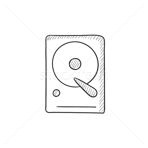 Hard disk sketch icon. Stock photo © RAStudio