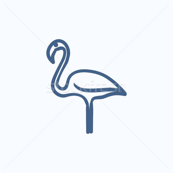 フラミンゴ スケッチ アイコン ベクトル 孤立した 手描き ストックフォト © RAStudio