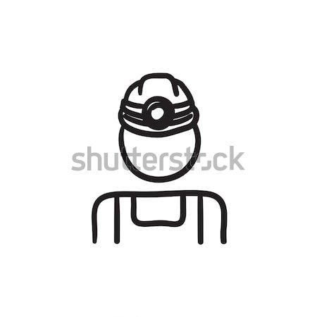 Coal miner sketch icon. Stock photo © RAStudio