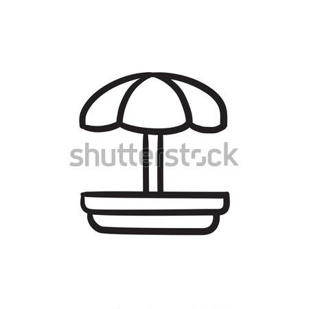 Boisko szkic ikona wektora odizolowany Zdjęcia stock © RAStudio