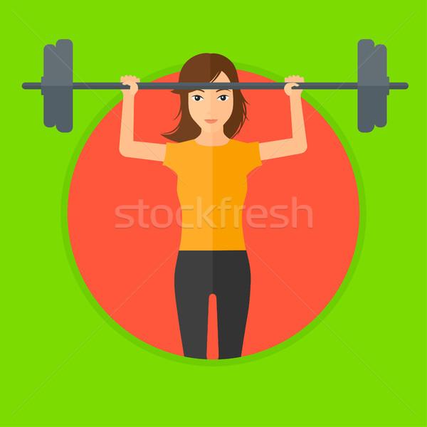 女性 バーベル スポーティー 重量 ストックフォト © RAStudio