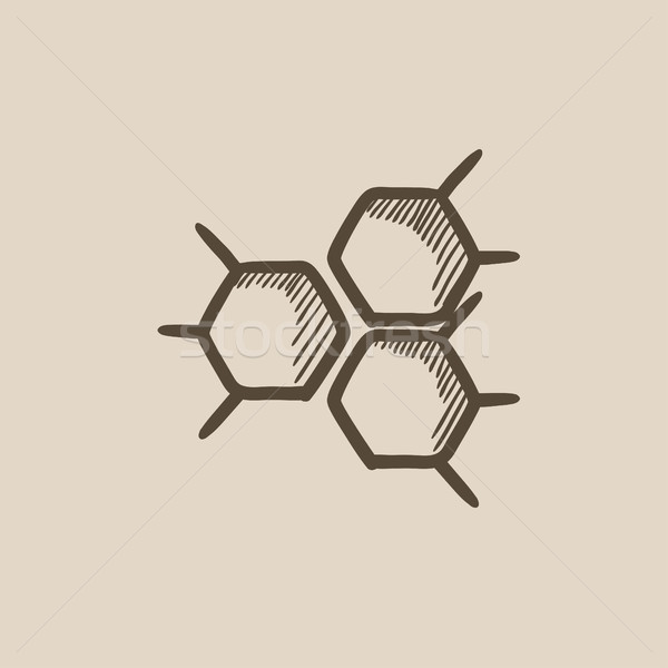 Químico fórmula esboço ícone vetor isolado Foto stock © RAStudio