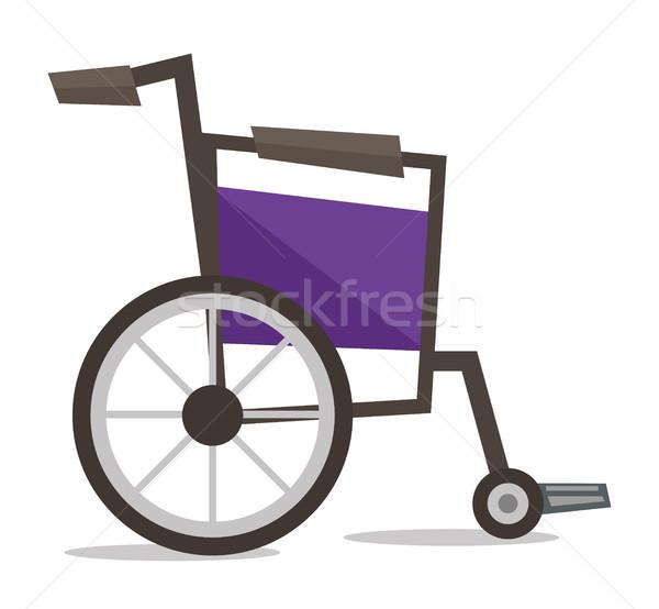 Side view of empty wheelchair vector illustration. Stock photo © RAStudio