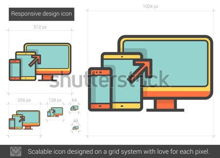Responsive design line icon. Stock photo © RAStudio