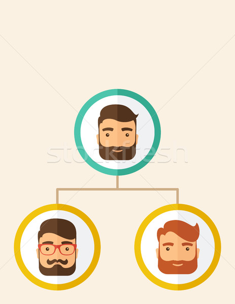 Company employees ranking position Stock photo © RAStudio
