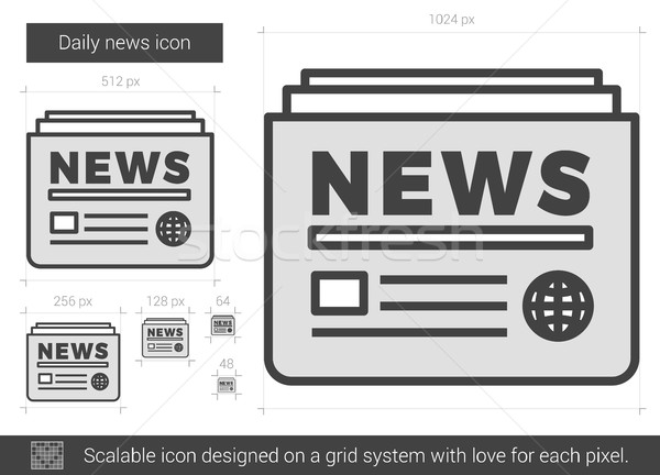 Daily news line icon. Stock photo © RAStudio