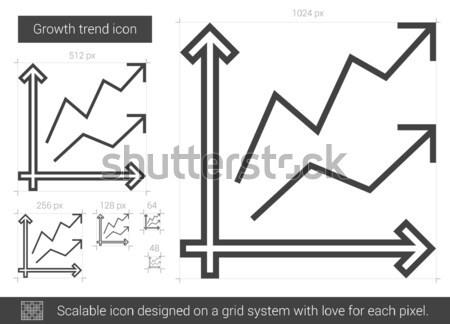 Crecimiento tendencia línea icono vector aislado Foto stock © RAStudio
