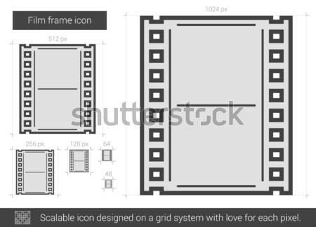 Negative sketch icona vettore isolato Foto d'archivio © RAStudio