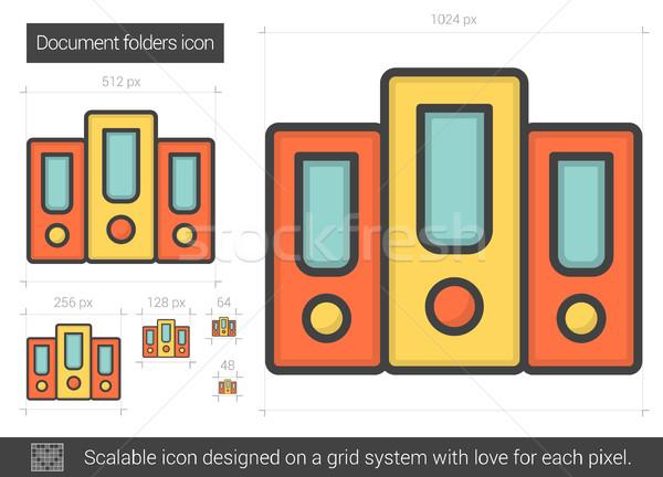 Document folders line icon. Stock photo © RAStudio