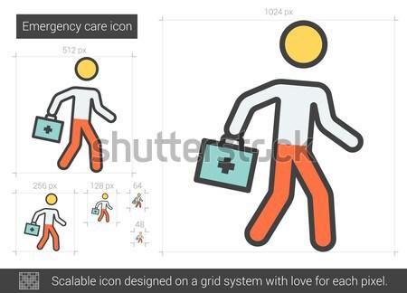 Vészhelyzet törődés vonal ikon vektor izolált Stock fotó © RAStudio