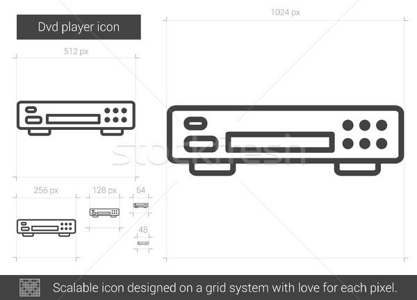 Dvd player line icon. Stock photo © RAStudio