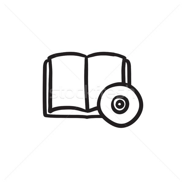 Audiobook and cd disc sketch icon. Stock photo © RAStudio