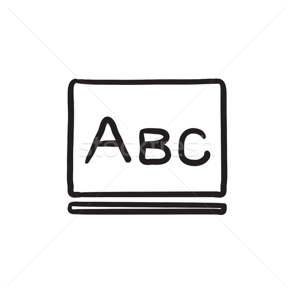 Letters abc on blackboard sketch icon. Stock photo © RAStudio
