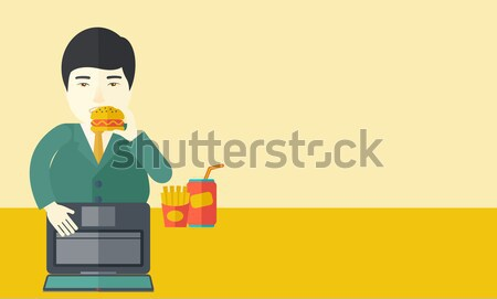 Man playing video game vector illustration. Stock photo © RAStudio