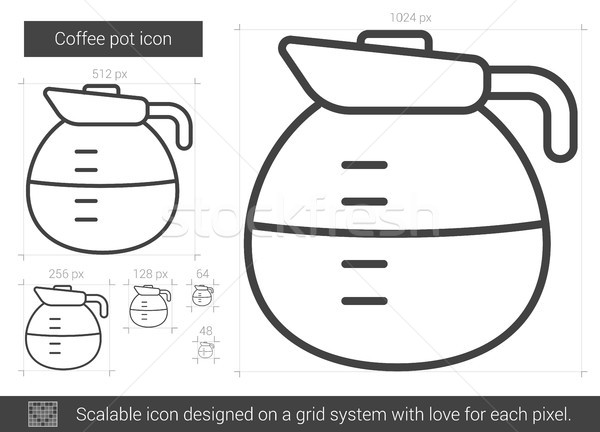 Coffee pot line icon. Stock photo © RAStudio