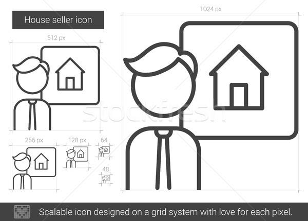 House seller line icon. Stock photo © RAStudio