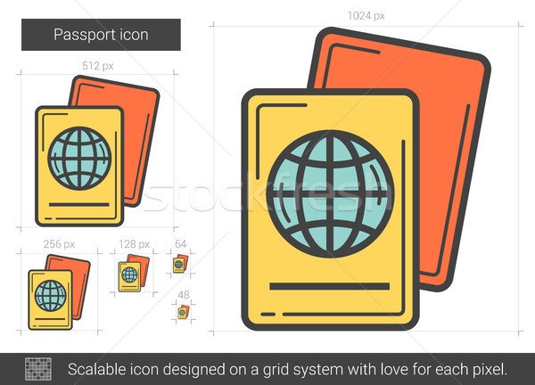 Passport line icon. Stock photo © RAStudio