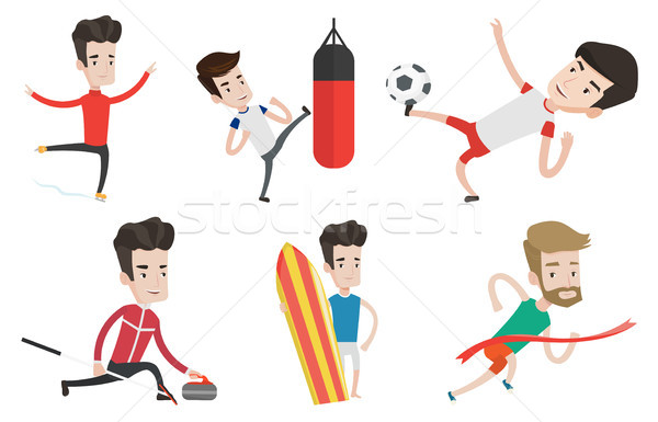 Vector set of sport characters. Stock photo © RAStudio