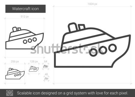Navio de cruzeiro esboço ícone vetor isolado Foto stock © RAStudio