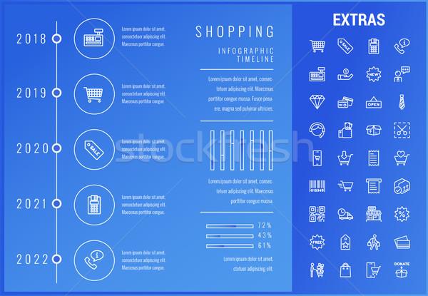 Compras infografía plantilla elementos iconos Foto stock © RAStudio