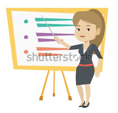 African teacher or student pointing at board. Stock photo © RAStudio