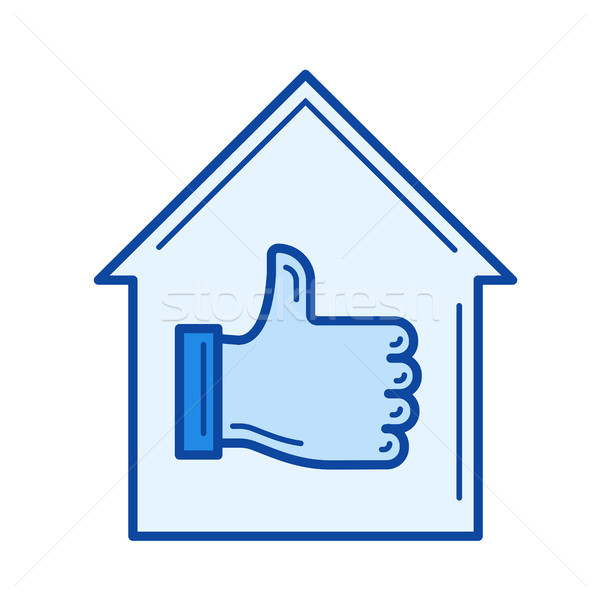 Best house line icon. Stock photo © RAStudio