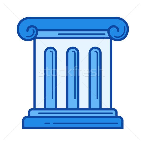 Antieke kolom lijn icon vector geïsoleerd Stockfoto © RAStudio