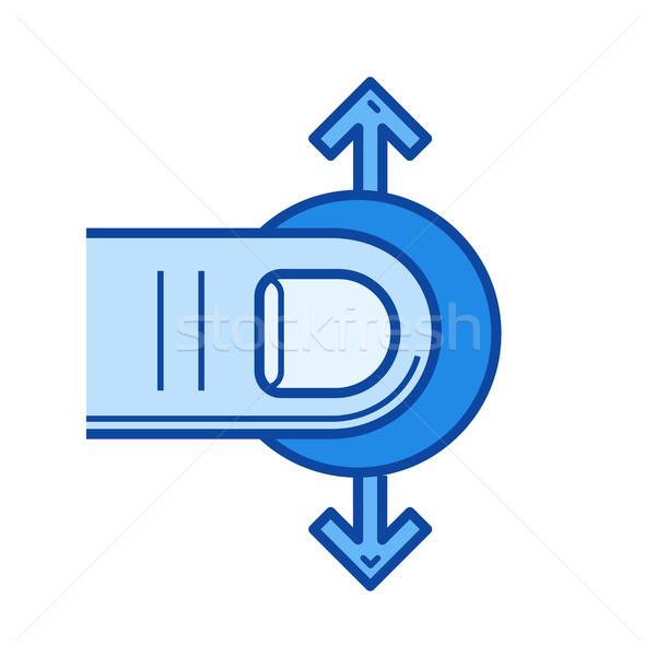 One-finger drag line icon. Stock photo © RAStudio