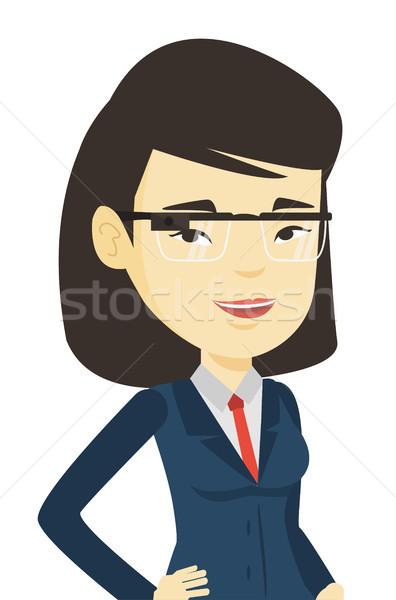 Woman wearing smart glass vector illustration. Stock photo © RAStudio