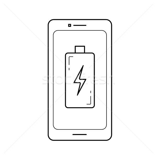 Charge phone line icon. Stock photo © RAStudio