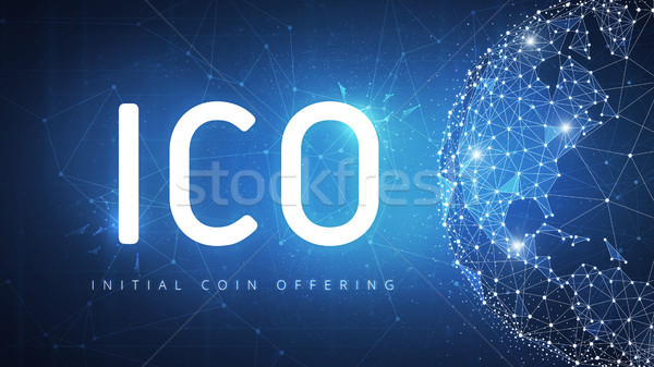 ICO initial coin offering banner. Stock photo © RAStudio
