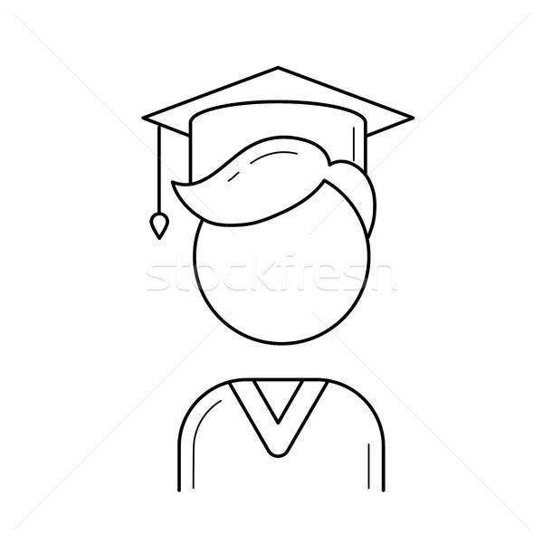 Graduate student vector line icon. Stock photo © RAStudio