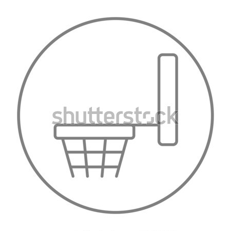 Basketball hoop thin line icon Stock photo © RAStudio