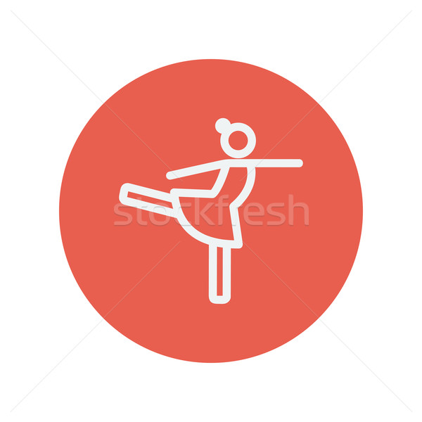 Stock photo: Ballet dancing thin line icon