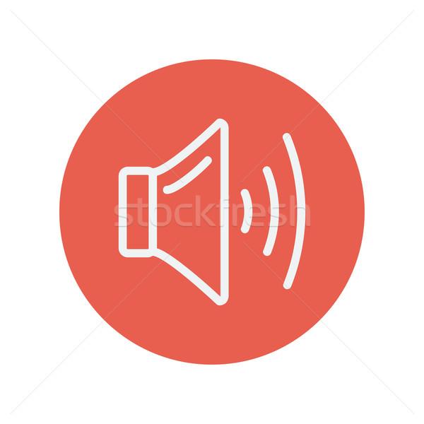 Hangszóró hangerő vékony vonal ikon háló Stock fotó © RAStudio