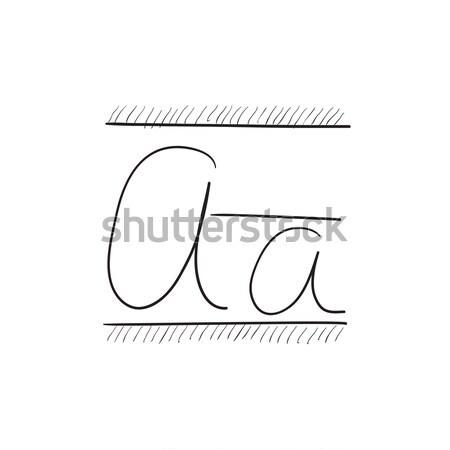 スイマー アイコン チョーク 手描き 黒板 ストックフォト © RAStudio