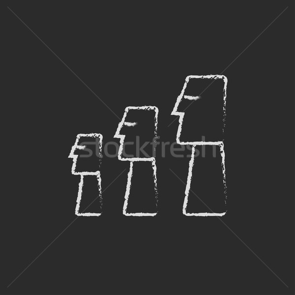 Ilha de Páscoa ícone giz lousa Foto stock © RAStudio