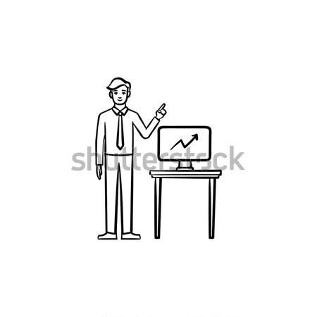 Határidő mérges főnök áll iroda mutat Stock fotó © RAStudio