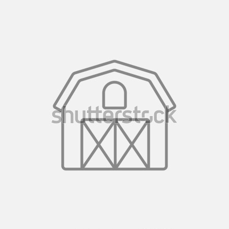 Stock photo: Farm building line icon.