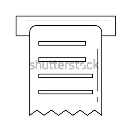 Erhalt line Symbol Web mobile Infografiken Stock foto © RAStudio