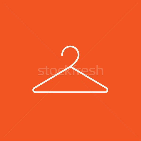 Cintre ligne icône web mobiles infographie Photo stock © RAStudio