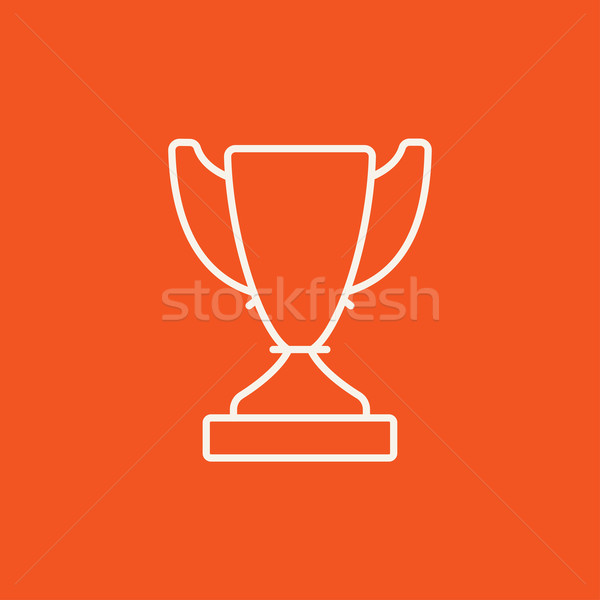 Trophy line icon. Stock photo © RAStudio