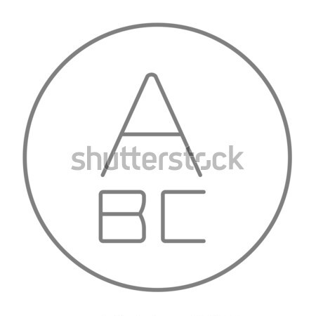 Letters painted in bold line icon. Stock photo © RAStudio