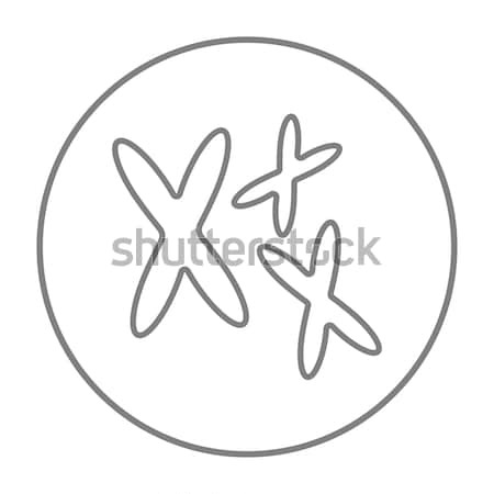 Chromosomes line icon. Stock photo © RAStudio