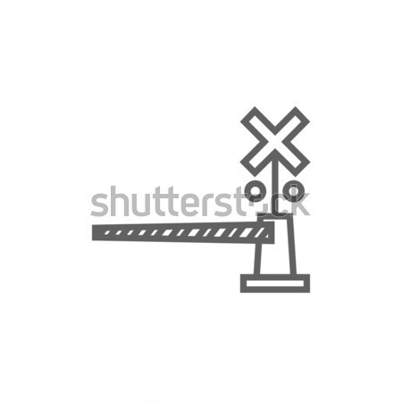 Railway barrier line icon. Stock photo © RAStudio