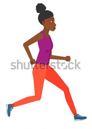 Sportive woman jogging. Stock photo © RAStudio